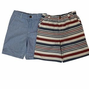Two Pair Striped Boys Shorts size 7